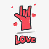Love hand symbols. concept of love. Illustration Stock Images