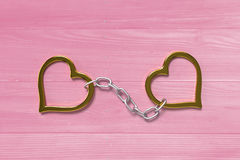Love handcuffs Royalty Free Stock Images