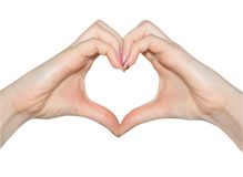 Love, hands of heart shape Royalty Free Stock Photos