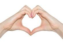 Love, hands of heart shape Royalty Free Stock Photos