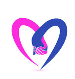 Love hands logo stock photo