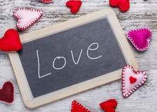 Love handwritten message Stock Images