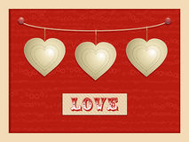 Love and hanging hearts background2 Royalty Free Stock Photos