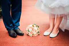 Love and happiness on wedding day. Stock Photo