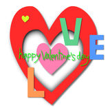 Love, Happy valentine's day, Valentine's Day greeting card Royalty Free Stock Photo