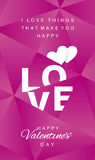 Love Happy Valentines Day abstract pink vector. Love Happy Valentines Day hearts abstract pink background vector Royalty Free Stock Photography