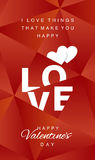 Love Happy Valentines Day abstract red vector. Love Happy Valentines Day hearts abstract red background vector Stock Images