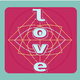 LOVE Happy Valentines day card, abstract Stock Images