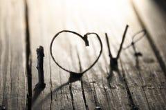 LOVE Happy Valentines day idea, wedding invitation or greeting card Stock Image