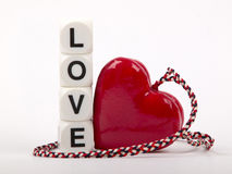 Love and hart. Hart and love for valentine day stock photo