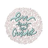 Love Has No Gender. Hand Drawn Lettering. Royalty Free Stock Images