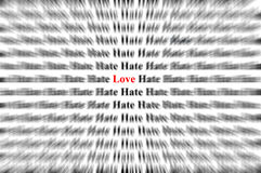 Love among hate Stock Photography