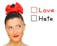 Love or hate? Royalty Free Stock Images