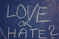 Love or hate chalk drawing, conceptual picture Stock Photography