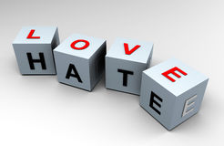 Love and Hate, closer than you think! - 3D image Stock Images