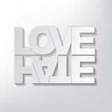 Love or hate concept Stock Photography