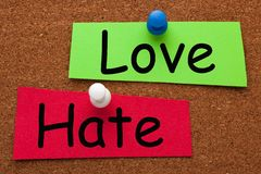 Love Hate Concept royalty free stock photography