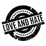 Love and Hate rubber stamp Royalty Free Stock Image