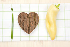 We love healthy food. Stock Images
