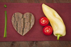 We love healthy food. Royalty Free Stock Image