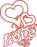 Love heart 01. Designed for two-drawn valentine heart graphic royalty free illustration