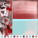 Love heart 1. Quickpage for scrapbooking Stock Photos