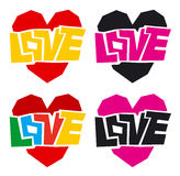 Love and heart. Color icons Stock Images