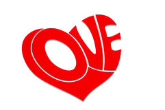 Love heart. Word love enclosed in shape of heart Royalty Free Stock Image