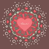 Love in the heart Royalty Free Stock Images