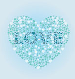 Love Heart. A heart with Love written inside of it to replicate a colorblind exam Stock Photo