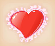 Love heart. Illustration. Valentine heart stock illustration
