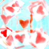 Love heart 6. A soft romantic background for Valentine's day Stock Photo