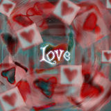 Love heart 8. A soft romantic background for Valentine's day Royalty Free Stock Image