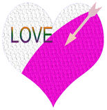 Love heart and arrow Stock Images