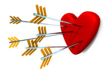 Love heart arrows Royalty Free Stock Photo
