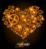 Love heart background Royalty Free Stock Image