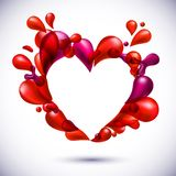 Love heart background. Royalty Free Stock Photos