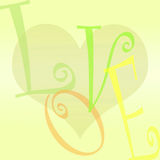 Love and heart background Royalty Free Stock Images