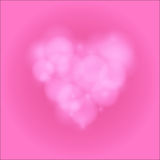 Love heart background bokeh vector Royalty Free Stock Photography