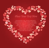Love heart background card Royalty Free Stock Image