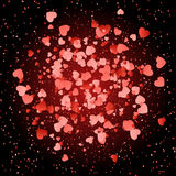 Love heart background Stock Photos