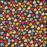 Love Heart Background Pattern Valentines day Greet. Ing card trendy colors Romantic relationship concept in vector Stock Photography