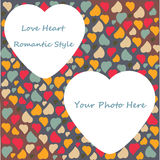 Love Heart Background Pattern Valentines day Greet Royalty Free Stock Image