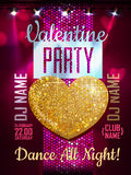 Love heart background. Valentine Disco party Stock Photos