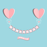 Love heart background, vector Royalty Free Stock Images