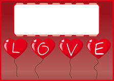 Love heart balloon Royalty Free Stock Photo