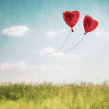 Heart balloon in  blue sky Stock Photo