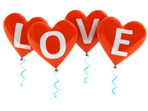 Love heart balloons Stock Photography