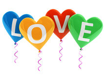 Love heart balloons Stock Photos