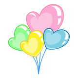 Love Heart balloons isolated illustration Royalty Free Stock Photography